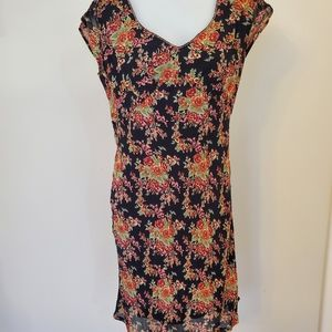 VTG April Cornell Floral Dress Medium to Lg